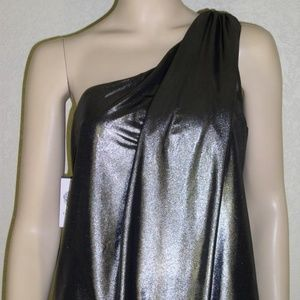 Vince Camuto NWT Metallic One Shoulder Dress #5274
